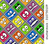 funny colorful emotions... | Shutterstock .eps vector #310750109