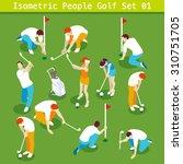 Golf 2016 Summer Games Icon Se...