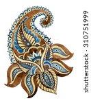 watercolor paisley element of...   Shutterstock . vector #310751999