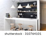 modern kitchen in a luxurious... | Shutterstock . vector #310764101