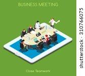 startup teamwork brainstorming... | Shutterstock .eps vector #310766075