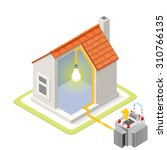 electric grid infographic icon...   Shutterstock .eps vector #310766135