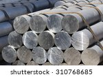 heap of aluminium bar  aluminum ... | Shutterstock . vector #310768685