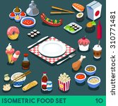 plate modular food elements... | Shutterstock .eps vector #310771481