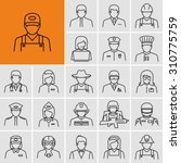 different professions avatars... | Shutterstock .eps vector #310775759