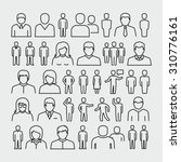 vector people outline icons  | Shutterstock .eps vector #310776161