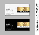 voucher template with premium... | Shutterstock .eps vector #310789367