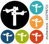 signpost icon | Shutterstock .eps vector #310798721