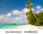summertime at a tropical beach | Shutterstock . vector #31080202