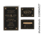 save the date   wedding... | Shutterstock .eps vector #310806527