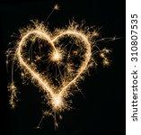 sparkling heart  | Shutterstock . vector #310807535