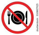 no eating sign no food sign