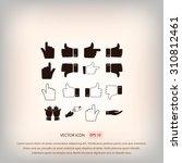 hand icons | Shutterstock .eps vector #310812461