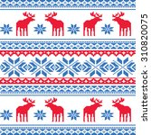 seamless christmas pattern with ... | Shutterstock .eps vector #310820075
