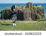 traditional scottish bagpiper... | Shutterstock . vector #310822325