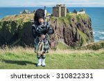 traditional scottish bagpiper... | Shutterstock . vector #310822331