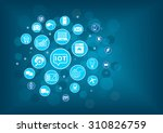 iot internet of things concept. ... | Shutterstock .eps vector #310826759