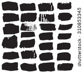 big collection of black ink... | Shutterstock .eps vector #310853345