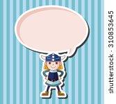 vikings  cartoon speech icon | Shutterstock . vector #310853645
