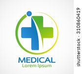 medical pharmacy logo design... | Shutterstock .eps vector #310860419