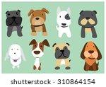 dogs cartoon vector | Shutterstock .eps vector #310864154