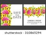 romantic invitation. wedding ... | Shutterstock .eps vector #310865294