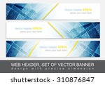 set of web header  footer or... | Shutterstock .eps vector #310876847