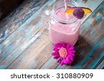 healthy mixed berry smoothie...   Shutterstock . vector #310880909