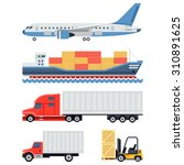 freight transportation and... | Shutterstock .eps vector #310891625