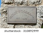hollywoodland metal sign with... | Shutterstock . vector #310892999