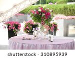 purple bouquet of flowers for a ... | Shutterstock . vector #310895939