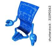 home construction blueprint zen | Shutterstock . vector #31090363