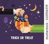 Halloween Trick Or Treat Card...