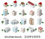 set of 3d detailed isometric... | Shutterstock .eps vector #310915055