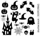 icons for halloween | Shutterstock .eps vector #310919861