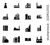 vector black factory icon set | Shutterstock .eps vector #310922531