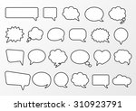 stickers of speech bubbles... | Shutterstock .eps vector #310923791