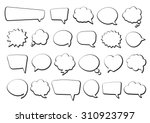 stickers of speech bubbles... | Shutterstock .eps vector #310923797