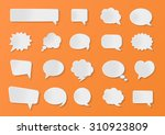 stickers of speech bubbles... | Shutterstock .eps vector #310923809