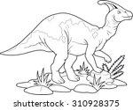 parasaurolophus | Shutterstock . vector #310928375