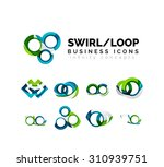 set of infinity concepts  loop... | Shutterstock .eps vector #310939751