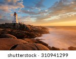 Light House At Peggy Cove At...