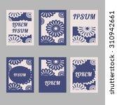 set of brochures in vintage... | Shutterstock .eps vector #310942661