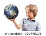 Young Boy Holding World In The...
