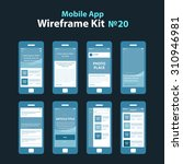 mobile app wireframe ui kit 20. ...