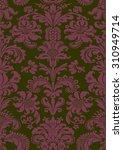 foliage tile oriental green...   Shutterstock .eps vector #310949714