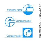 a set of logos for water...   Shutterstock .eps vector #310966547