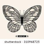 halloween moth  wildlife insect.... | Shutterstock .eps vector #310968725