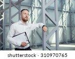 attractive businessman has a... | Shutterstock . vector #310970765