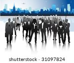 concept of business people | Shutterstock .eps vector #31097824